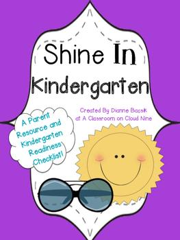 Shine in Kindergarten: NO PREP Summer Readiness Checklist {freebie}