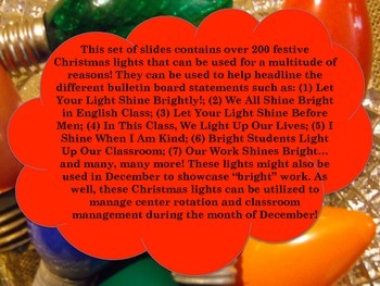Bulletin Board Ideas: Shining Brightly in December!