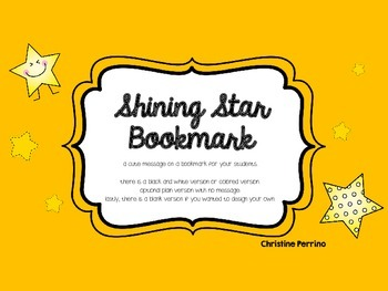 Shining Star Bookmark