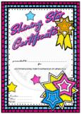 Shining Star Certificate