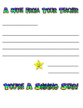 Shining Star Teacher Stationery