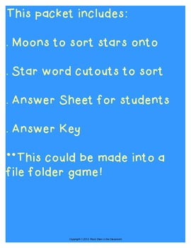 Sh/St Word Sort (File Folder Game)