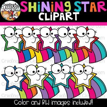 Shining Stars Clipart {Stars Clipart}