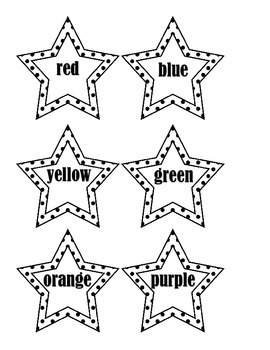 Shining Stars in the Sky - Colors and Color Words