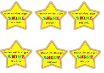 Shining star cards