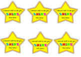 Shining star cards