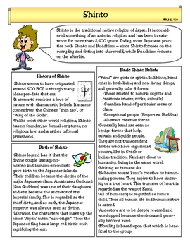 Shinto Worksheets & Teaching Resources | Teachers Pay Teachers