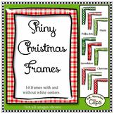 Shiny Christmas Frames - Clip Art