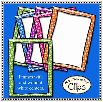 Shiny Frames - Candy Colors - Clip Art
