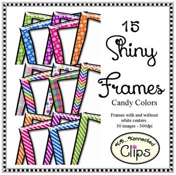 Shiny Frames - Candy Colors - Clip Art