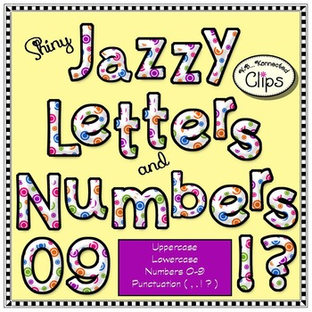 Shiny Jazzy Letters and Numbers - Candy Colors