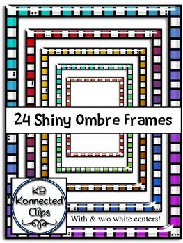 24 Shiny Ombre Frames
