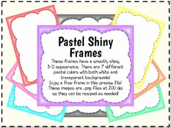 Shiny Pastel Borders/Frames