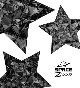 Shiny Plastic Black Stars ( images )