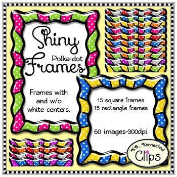 Shiny Polka-dot Frames
