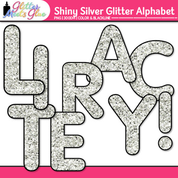 Shiny Silver Alphabet Clip Art {Great for Classroom Decor & Resources}