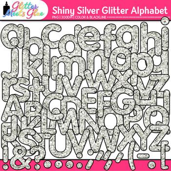 Shiny Silver Alphabet Clip Art {Great for Classroom Decor