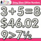 Shiny Silver Glitter Math Numbers Clip Art {Great for Clas
