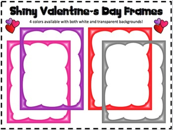 Shiny Valentine's Day Borders/Frames