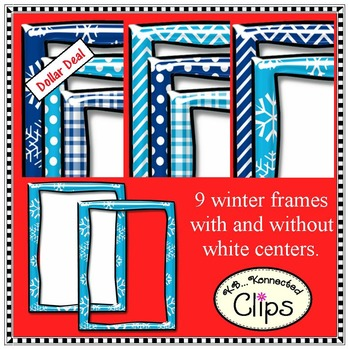 Frames Winter Clip Art - Shiny Winter Frames