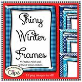 Frames Winter Clip Art - Shiny Winter Frames