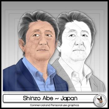 Shinzo Abe Realistic Clip Art Portrait