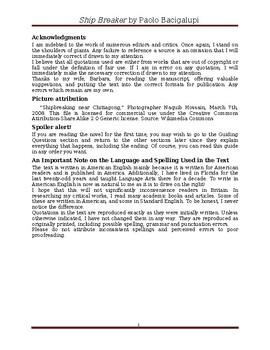 """Ship Breaker"" by Paolo Bacigalupi: A Study Guide"
