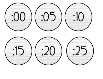 Ship-Lap Clock Numbers
