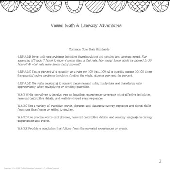 A Vessel Math & Literacy Activities Lesson Plans