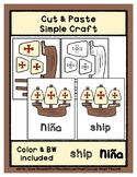 Ship - Nina - Cut & Paste Craft - Super Easy Perfect for P