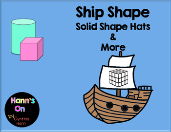 Ship Shape 3D Solid Shape Hats and more