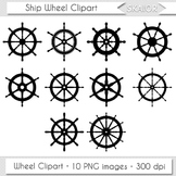 Ship Wheel Clipart Helm Boat Nautical Digital Vector Scrap