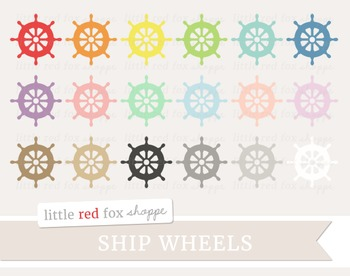Ship Wheel Clipart; Nautical