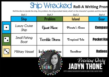 Ship Wrecked Roll-A Writing Prompt