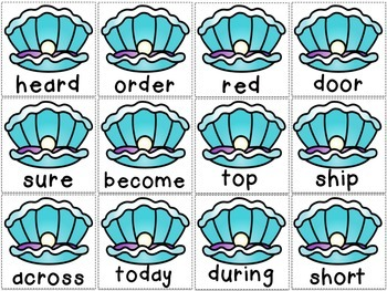 Ship Wrecked Sight Words- The Fourth Hundred Fry Words