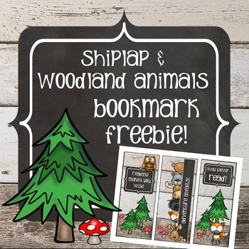 Shiplap and Woodland Animals - Bookmark FREEBIE