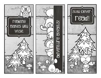 Shiplap and Woodland Animals - Bookmark FREEBIE
