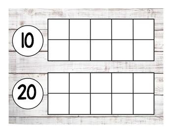 Shiplap 10 Frame for 100 Days of School
