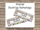 Shiplap ABC Desktop Nametags