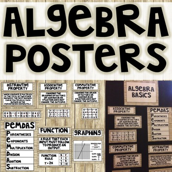 Shiplap Algebra Posters