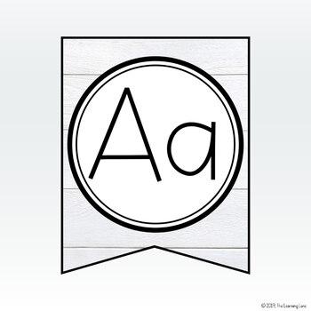 Shiplap Alphabet Banner