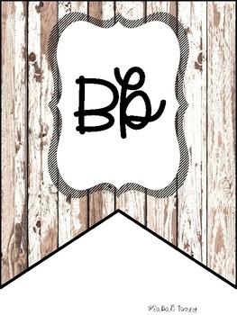 Shiplap Alphabet Bunting Banner