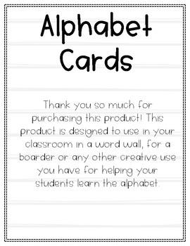 Alphabet Wall Cards- Shiplap Edition
