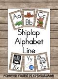 Shiplap Alphabet Line