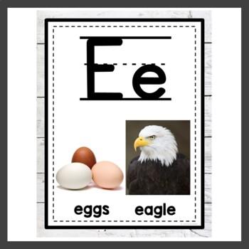 Farmhouse Classroom Decor Alphabet Posters