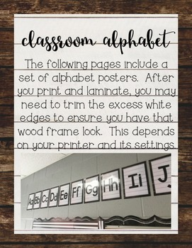 Shiplap Alphabet Posters, Banners, and Word Wall Letters {Farmhouse Classroom}