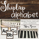 Shiplap Alphabet Posters, Banners, and Word Wall Letters {