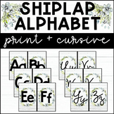 Shiplap Alphabet Print and Cursive