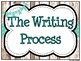Shiplap & Aqua Writing Process Workshop Displays & Clip Chart