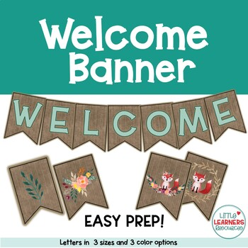 Shiplap Back to School Welcome Banner